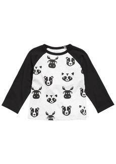 First Impressions Baby Boys Colorblocked Raglan Printed T-Shirt, Created for Macy's