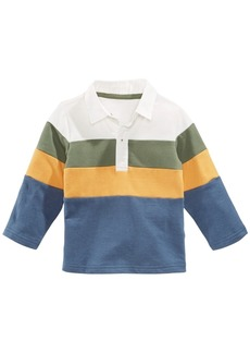 First Impressions Baby Boys Colorblocked Rugby Polo Shirt, Created for Macy's