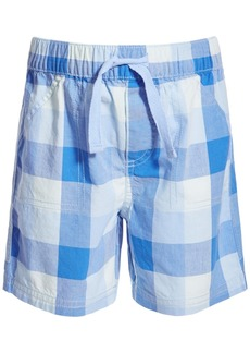 First Impressions Baby Boys Cool Water Plaid Cotton Shorts, Created for Macy's
