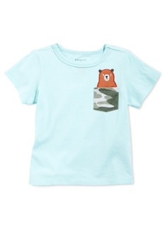 First Impressions Baby Boys Cotton Bear Pocket T-Shirt, Created for Macy's