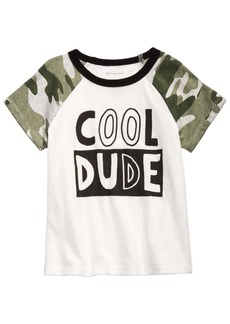 First Impressions Baby Boys Cotton Cool Dude Camo Raglan T-Shirt, Created for Macy's