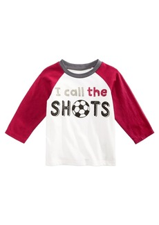 First Impressions Baby Boys Cotton Long Sleeve Raglan Soccer T-Shirt, Created for Macy's