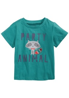 First Impressions Baby Boys Cotton Party Animal T-Shirt, Created for Macy's