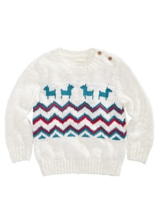 First Impressions Baby Boys Fairisle Llama-Print Sweater, Created for Macy's