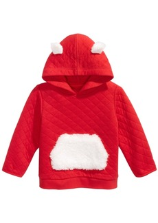 First Impressions Baby Boys Faux-Fur-Trim Quilted Hoodie, Created For Macy's