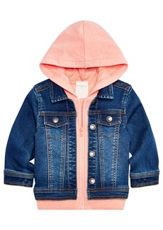 0fbd77b88 First Impressions First Impressions Hooded Denim Varsity Jacket ...