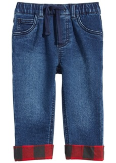 First Impressions Baby Boys Flannel-Cuff Jeans, Created for Macy's