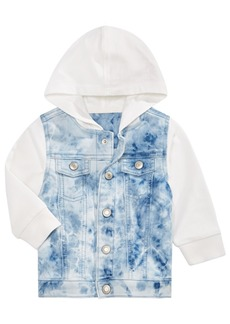 First Impressions Baby Boys Hooded Layered-Look Denim Jacket, Created for Macy's
