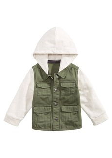 First Impressions Baby Boys Layered-Look Hooded Twill Cotton Jacket, Created for Macy's