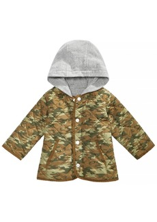 First Impressions Baby Boys Layered-Look Printed Hooded Jacket, Created for Macy's