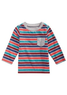 First Impressions Baby Boys Long-Sleeve Striped T-Shirt, Created for Macy's