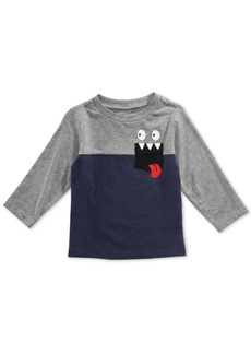 First Impressions Baby Boys Colorblocked Pocket T-Shirt, Created for Macy's