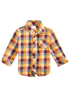 First Impressions Baby Boys Multicolor Plaid Shirt, Created for Macy's