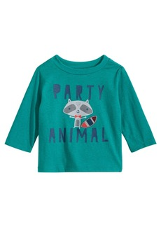 First Impressions Baby Boys Party Animal-Print T-Shirt, Created for Macy's
