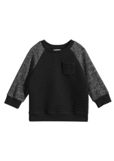First Impressions Baby Boys Quilted Crew-Neck Sweater, Created for Macy's