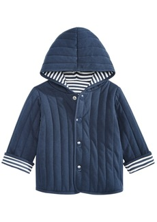 First Impressions Baby Boys Reversible Striped Cotton Jacket, Created for Macy's