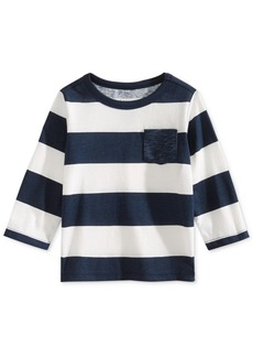 First Impressions Baby Boys Rugby Striped Cotton Shirt, Created for Macy's
