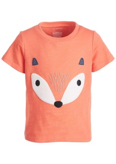 First Impressions Baby Boys Short Sleeve Fox Face Tee, Created for Macy's