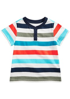 First Impressions Toddler Boys Cotton Striped Henley Top, Created for Macy's
