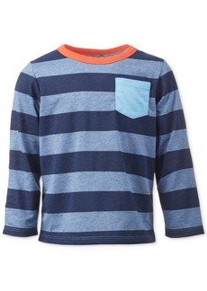 First Impressions Baby Boys Tonal Blue Rugby Tee, Created for Macy's