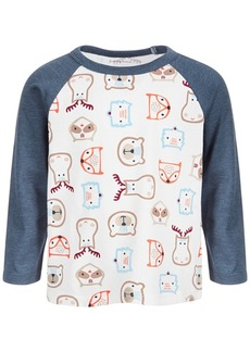 First Impressions Baby Boys Woodland Heads Tee, Created for Macy's