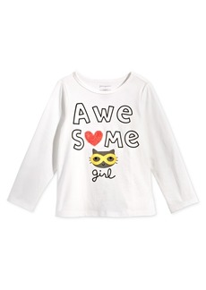 First Impressions Baby Girls Awesome-Print Cotton T-Shirt, Created for Macy's