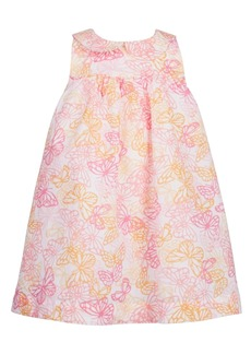 First Impressions Baby Girls Butterfly-Print Cotton Sundress, Created for Macy's