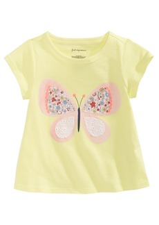 First Impressions Baby Girls Butterfly-Print Cotton T-Shirt, Created for Macy's