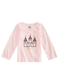 First Impressions Baby Girls Castle-Print Cotton T-Shirt, Created for Macy's