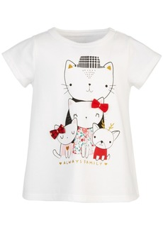First Impressions Baby Girls Cat Family Cotton T-Shirt, Created for Macy's