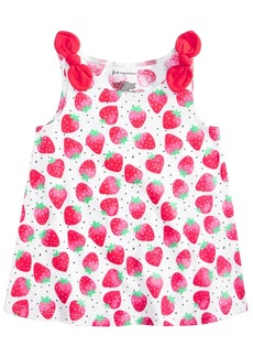 First Impressions Baby Girls Cotton Strawberry Knot Tank Top, Created for Macy's