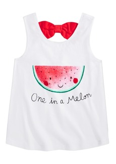 First Impressions Baby Girls Cotton Watermelon Bow-Back Tank Top, Created for Macy's