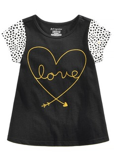 First Impressions Baby Girls Dotty Love Graphic Cotton Shirt, Created for Macy's