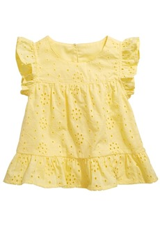 First Impressions Baby Girls Eyelet Cotton Top, Created for Macy's