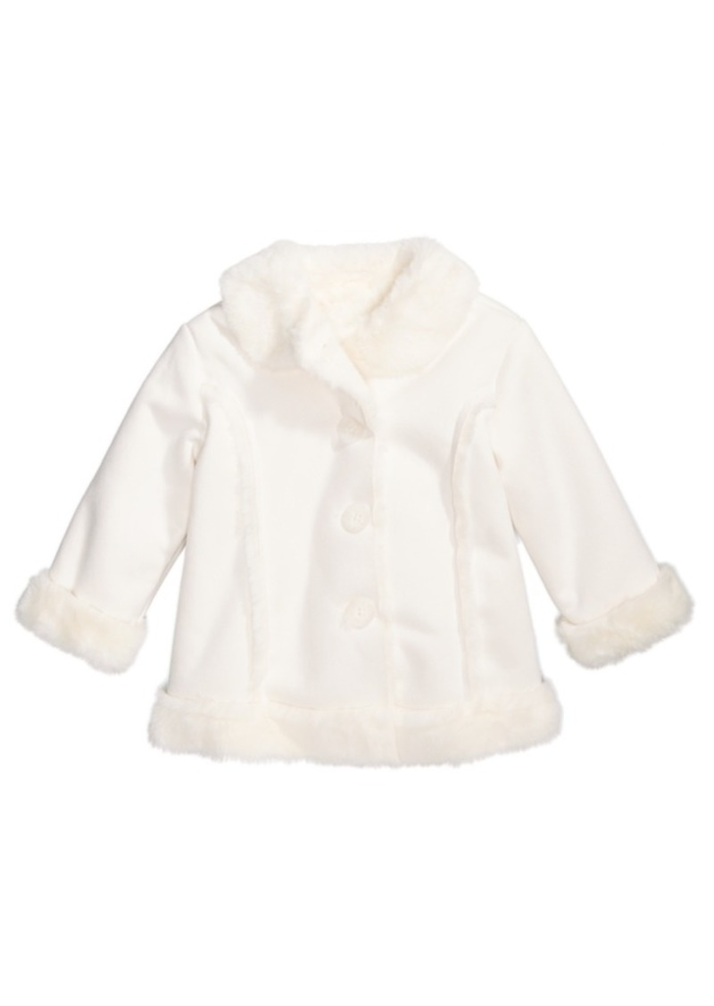 f8f53caa6 First Impressions First Impressions Baby Girls Faux-Shearling Coat ...