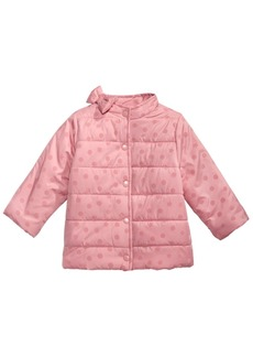 First Impressions Toddler Girls Flocked Dot-Print Bow Jacket, Created For Macy's