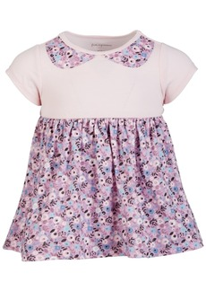 First Impressions Baby Girls Floral Collar Cotton Tunic, Created for Macy's