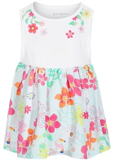First Impressions Toddler Girls Cotton Floral-Print Tunic, Created for Macy's