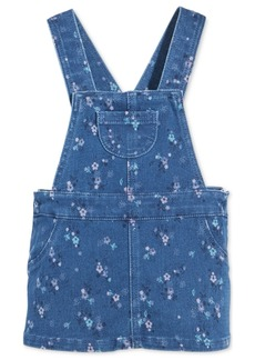 First Impressions Baby Girls Floral-Print Denim Jumper, Created for Macy's