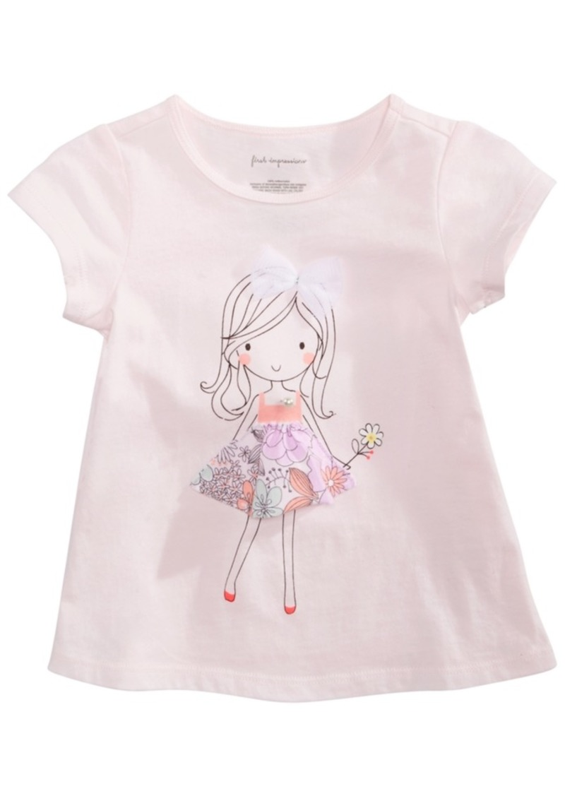 First Impressions Baby Girls Flower Girl Graphic T-Shirt, Created for Macy's
