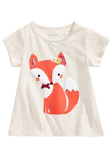 First Impressions Baby Girls Fox Graphic T-Shirt, Created for Macy's