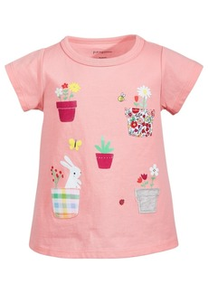 First Impressions Toddler Girls Garden Pocket Cotton T-Shirt, Created for Macy's