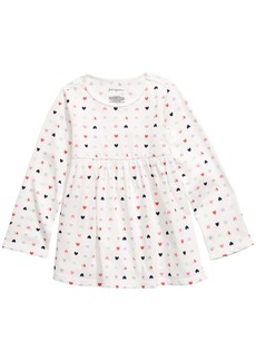 First Impressions Toddler Girls Heart-Print Cotton Tunic, Created for Macy's