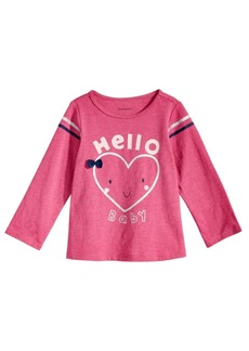 First Impressions Baby Girls Hello-Print T-Shirt, Created for Macy's