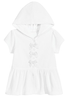First Impressions Baby Girls Hooded Bow Cover-Up, Created for Macy's