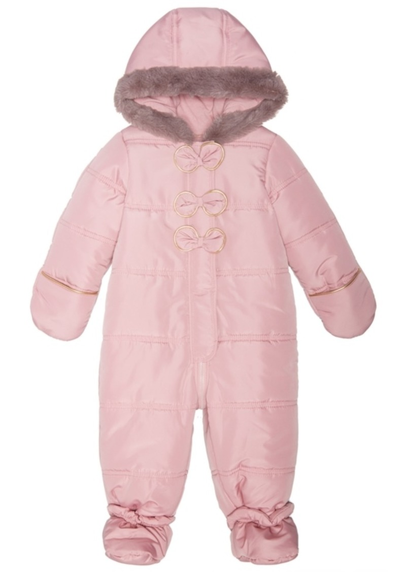 08bd20220 First Impressions First Impressions Baby Girls Hooded Bows Footed ...