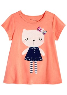 First Impressions Baby Girls Kitty Cat Cotton T-Shirt, Created for Macy's