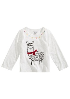 First Impressions Baby Girls Llama-Print T-Shirt, Created for Macy's