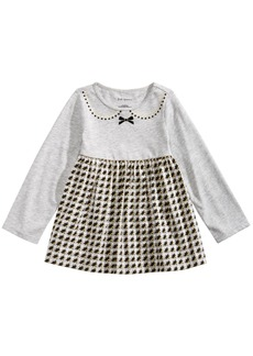 First Impressions Baby Girls Long-Sleeve Houndstooth Tunic, Created for Macy's
