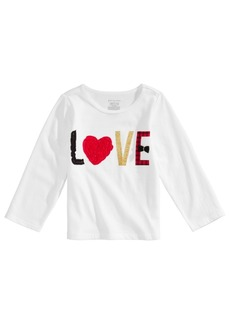 First Impressions Toddler Girls Long-Sleeve Cotton Love T-Shirt, Created for Macy's